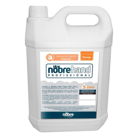 Sabonete Espumante - Pêssego - 5 litros - Nobre