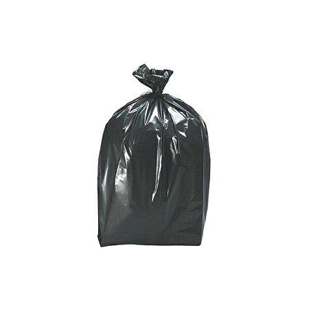 Saco plástico preto para lixo 50L  63X80cm com 100un - Micra 5 - Nobreplast