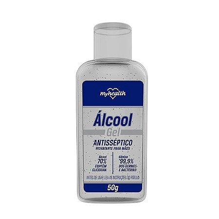 Álcool gel 70%  50gr. (antisséptico/hidratante p/ mãos) MYHEALTH