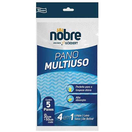 Pano Multiuso Azul - Pacote com 5 unidades - Nobre
