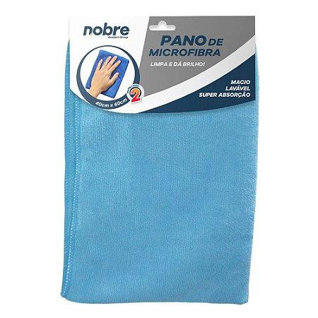 Pano de Microfibra 40x60cm Azul - pacote com 2un - Nobre