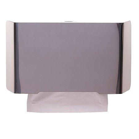 Dispenser Papel Toalha - Frente em Inox Polido - Linha Select - Nobre