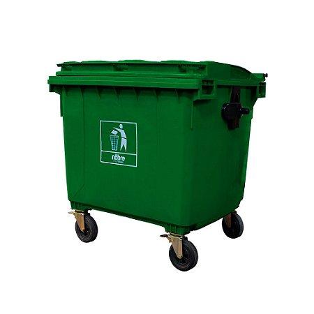 Coletora Plástica - sem Pedal 660L - Verde - Nobre