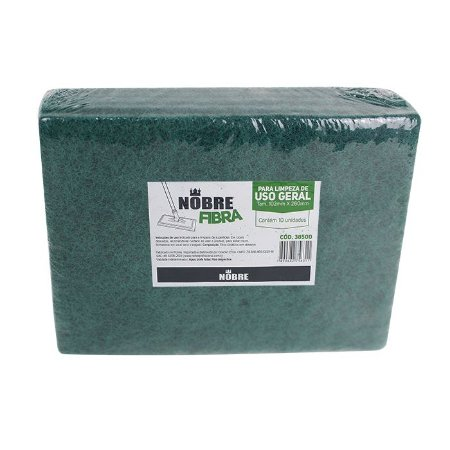 Fibra para Limpeza de Uso Geral 102x260mm - Pacote com 10unid - Nobre