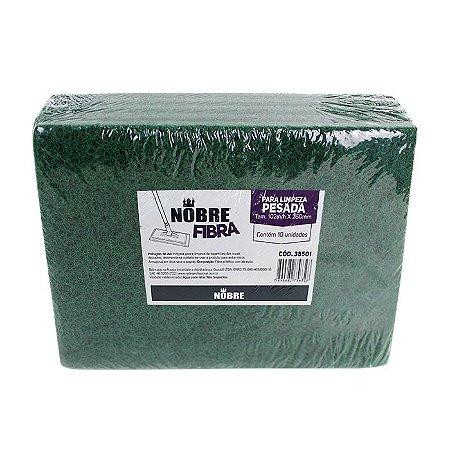 Fibra para limpeza pesada 102x260mm - pacote com 10unid - NOBRE