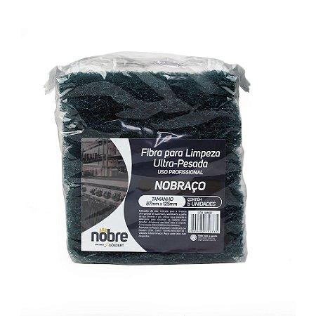 Fibra para limpeza uso profissional102x260mm - pacote com 5unid - NOBRE