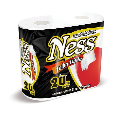 Papel Higiênico Folha Tripla - Neutro - 100% celulose virgem- 4x20m. NESS