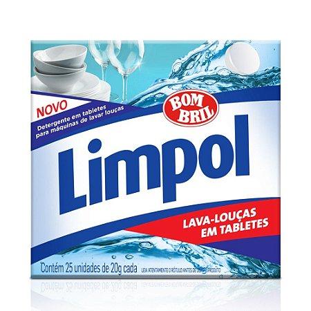 Detergente para Máquina de Lavar Louças Tablete 500gr - Limpol