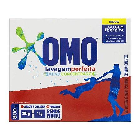 Detergente sabão em pó OMO Lavagem perfeita 800g - OMO