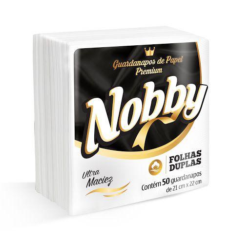 Guardanapo papel 21cm x 22cm - Folha Dupla - pacote com 50 folhas NOBBY