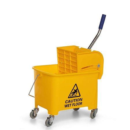 Carro balde 20L - cabo metal - amarelo NOBRE