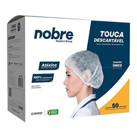 Touca descartável em TNT sanfonada - 50 unidades - Nobre
