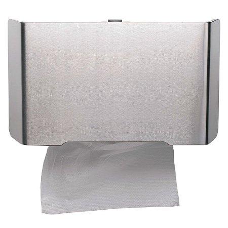 Dispenser Papel Toalha - Frente em Inox Escovado - Linha Select - Nobre