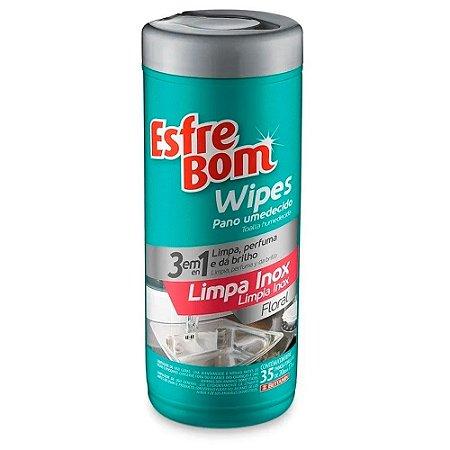 Pano Umedecido Wipes - Inox - Esfrebom
