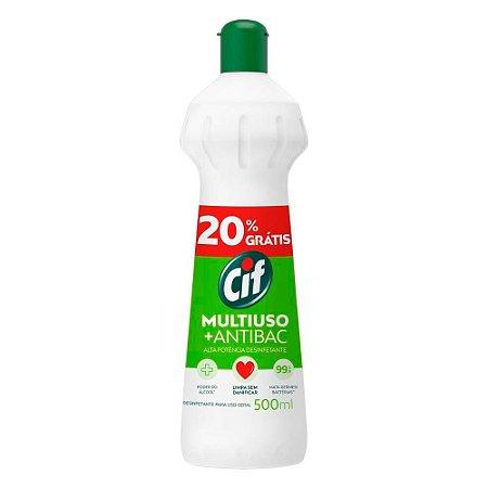 Multiuso Antibactericida - Sqeeze - 500ml 20% gratis - Cif
