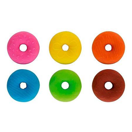 Marcador de Copo - Donuts - em Silicone - MOR