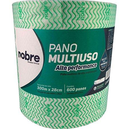 Pano Multiuso - Rolo - 28cm x 300m - Verde - Nobre