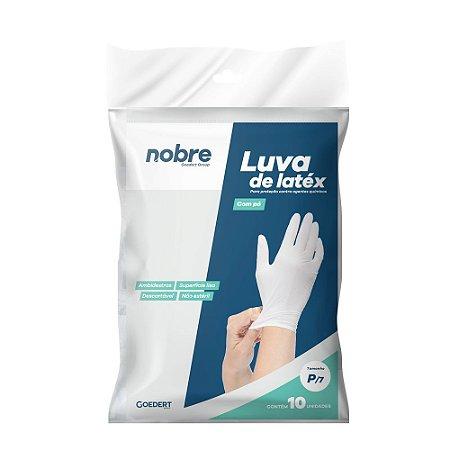 Luva Látex - com Pó - Proteção Contra Agentes Químicos - Pacote c/10un - Nobre