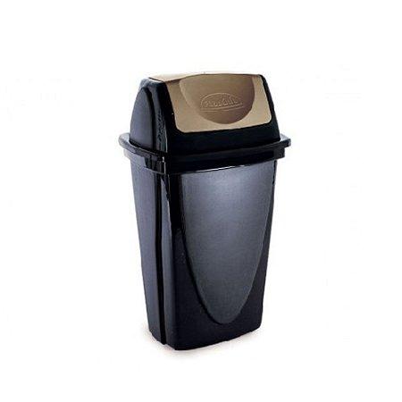 Lixeira Basculante - Ecoblack - 14L - Plasutil