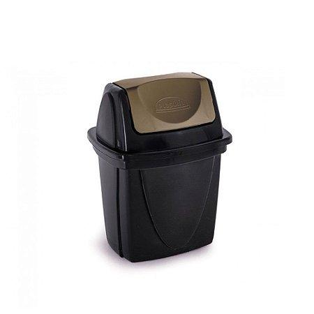 Lixeira Basculante - Ecoblack - 6,5L - Plasutil
