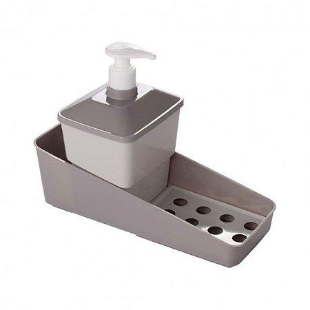 Conjunto Porta Detergente - Marrom Fendi - Plasútil