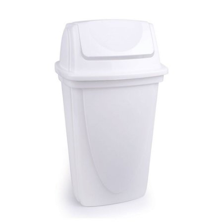 Lixeira Basculante - Branco - 9L - Plasútil