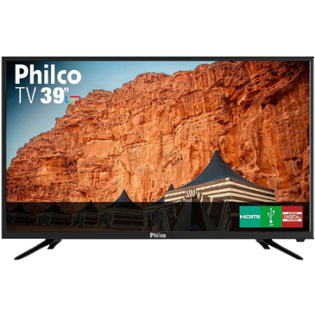 "TV LED 39"" Philco PTV39N91D HD com Conversor Digital 2 HDMI 2 USB"
