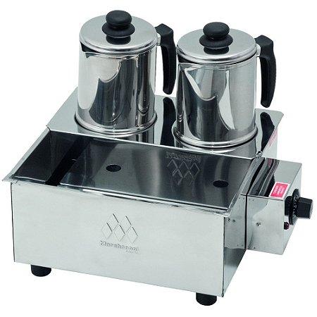 Esterilizador Inox com 2 Bules Luxo Termostato Marchesoni 220 V