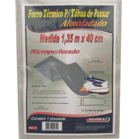 Forro Termico para Tabua de Passar Microperfurado Silver´s 40 Cm 1,35 M