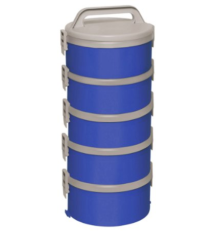 Jogo de Marmitas Termicas 5 Pecas Soprano Tekcor Azul