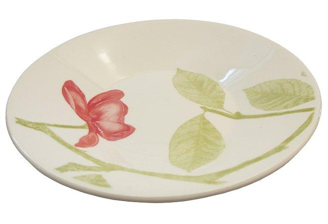 Prato de Porcelana Fundo Decorado Beauty Actual Biona Oxford 22 Cm