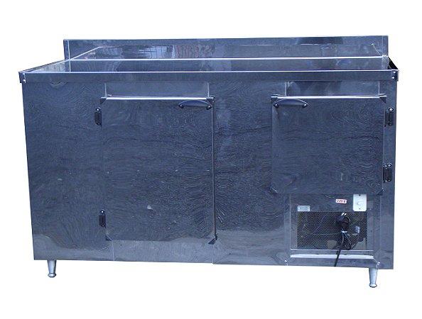 Balcao Refrigerado em Aco Inox com Encosto Basefrio 1,50 M 220 V