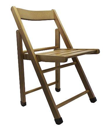 Cadeira de Madeira Dobravel Ripada Rubim Imbuia