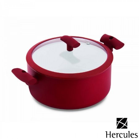 Cacarola com Tampa Hercules Mundial Vermelho  6.5 Lt