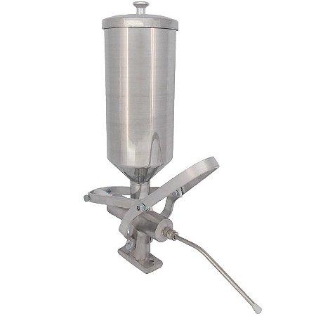 Doceira recheadeira de Churros em Aluminio R2 Metalurgica Prata  2.0 Lt
