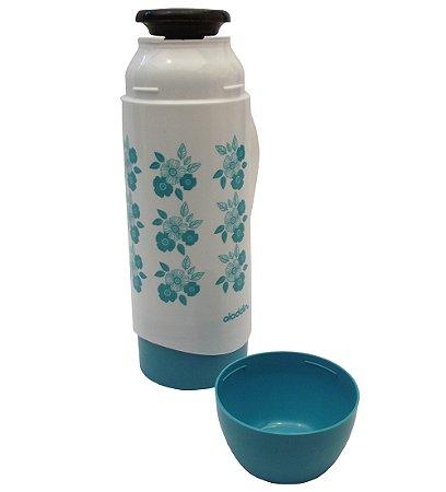 Garrafa Termica de Mesa Atx Floral Continental Plus Aladdin  Branco e Verde  500 Ml