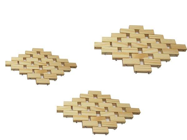 Jogo de Esteiras com 3 Pecas Stolf