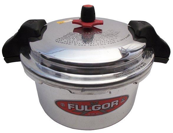 Panela de Pressao Polida Industrial com Alca Fulgor 15 Lt