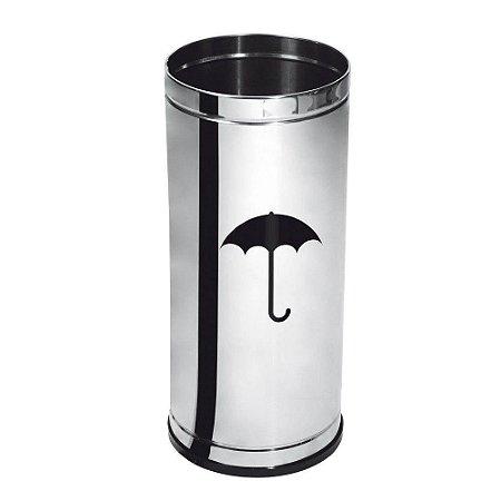 Porta Guarda-chuvas Inox com Frisos Purimax