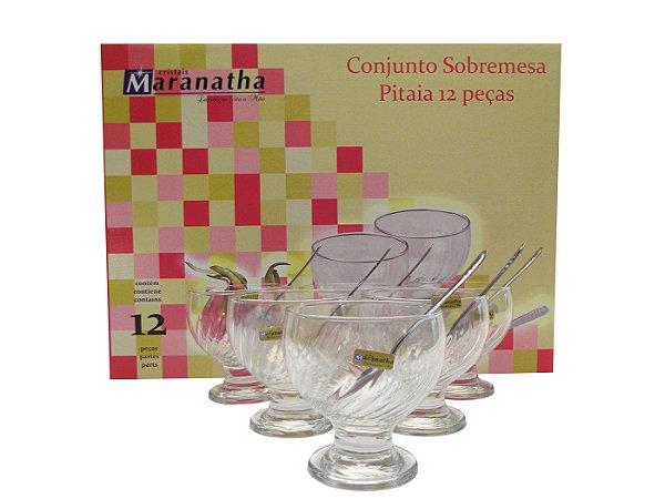 Jogo de Sobremesa 12 Pecas Pitaia Maranatha Transparente