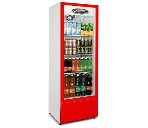 Visa Cooler Multiuso Conservex Vermelho  400 Lt 220 V