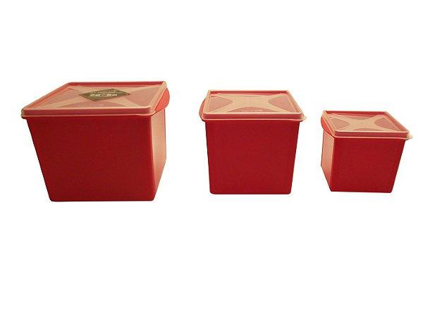 Organizador Multi Uso Quadrado com 3 Pecas Top Line  Amarelo