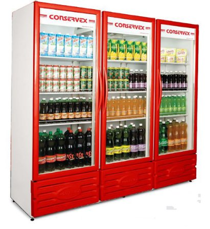 Visa Cooler Multiuso 3 Portas Conservex Vermelho  1300 Lt 220 V