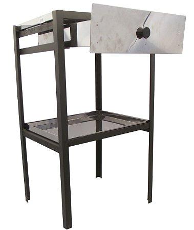 Mesa em Aco Inox com Gaveta Patrinox 45 Cm, 35 Cm