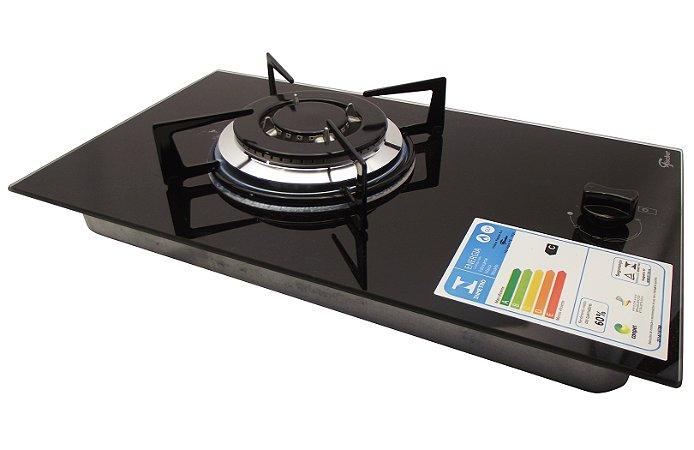 Cooktop com 1 Queimador A Gas Mesa de Vidro Fischer
