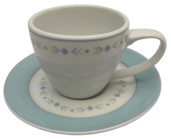 Xicara de Cha com Pires em Porcelana Versa Germer