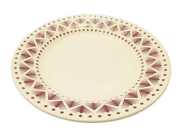 Prato de Porcelana Decorado Fundo Donna Maia Biona Oxford