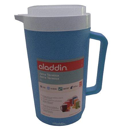 Jarra Plastica Termica Aladdin Verde Turquesa  02 Lt