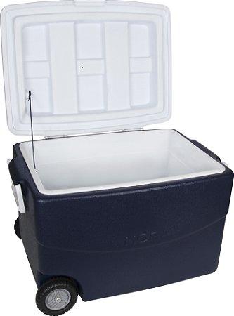 Caixa Termica com Rodas Glacial Mor Azul  70 Lt