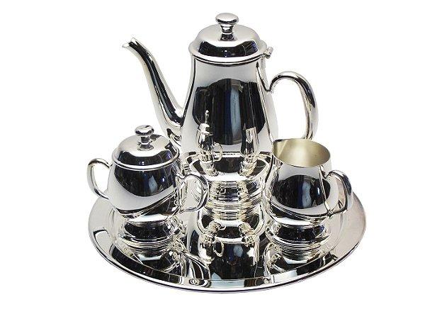 Conjunto para Cha e Cafe em Prata 4 Pecas Hercules Mundial